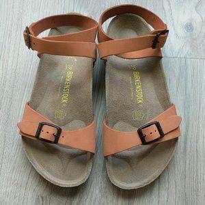 Birkenstock Isis Dehli Ankle Wrap Sandals Rare